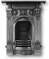 Victorian Complete Cast Iron Fireplace
