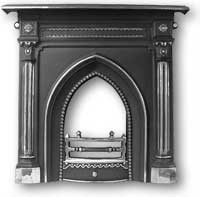 Gothic Complete Cast Iron Fireplace